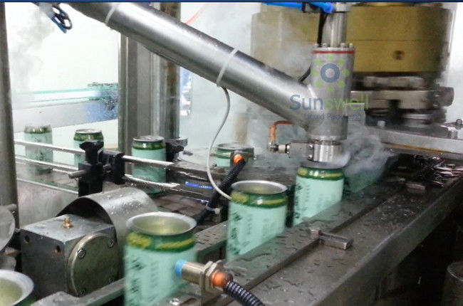 Aseptic Stable Liquid Nitrogen Dosing Machine High Speed For Possessed Individual Injecting ผู้ผลิต