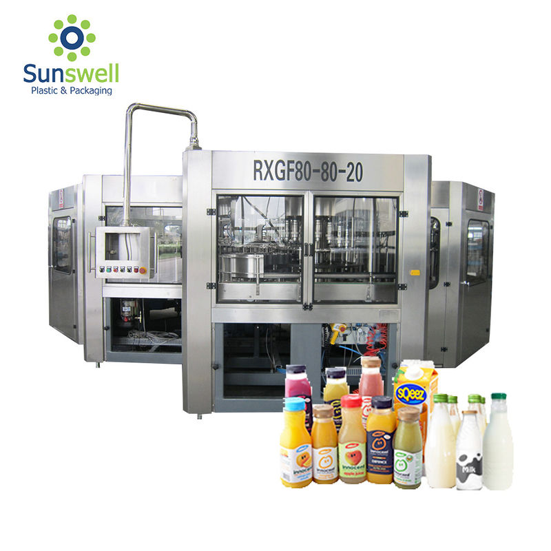 Reliable Liquid Juice Beverage Bottle Filling Machine Packaging Line Fully Automatic