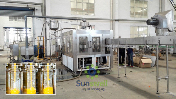 Plastic Bottle Hot  Fruit Juice Filling Machine With 6 Head