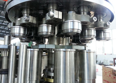 ประเทศจีน can filling line and seaming carbonated beverage beer, CSD 40 heads Aluminum Can Filling Machine โรงงาน