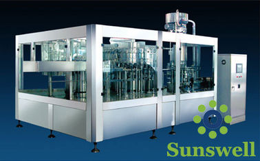 ประเทศจีน 3-In-1 Tea Drink Bottle Filling Machine Automatic With Washing / Filling / Capping โรงงาน