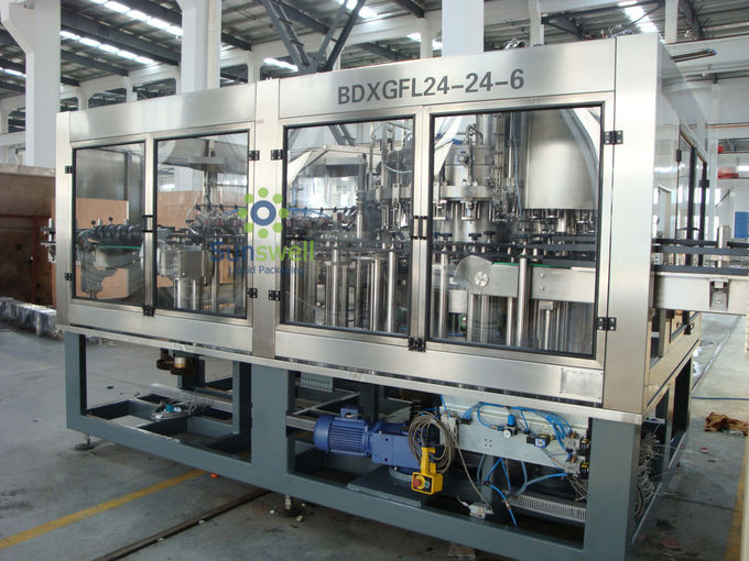 Automatic Beer Washing Filling Machine , Glass Beer Capping Machine